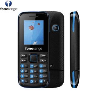 SIM Free Fonerange The Works Mobile Phone - Black & Blue