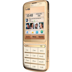Sim Free Nokia C3-01.5 - 18 Carat Gold Edition