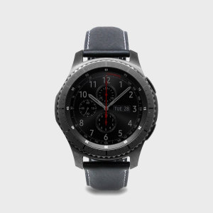 SLG D6 Samsung Gear S3 Minerva Box Leather Strap - Black