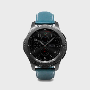 SLG D6 Samsung Gear S3 Minerva Box Leather Strap - Blue