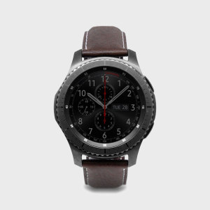 SLG D6 Samsung Gear S3 Minerva Box Leather Strap - Brown