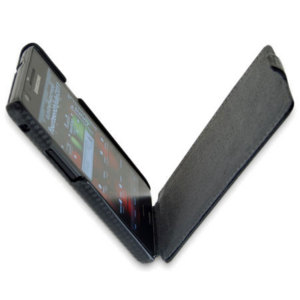 Slimline Carbon Fibre Style Flip Case for Samsung Galaxy S2