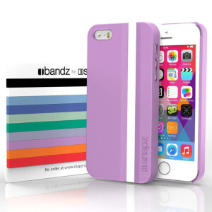 Snapz iPhone 5S/5 Case and Interchangeable Bandz - African Violet