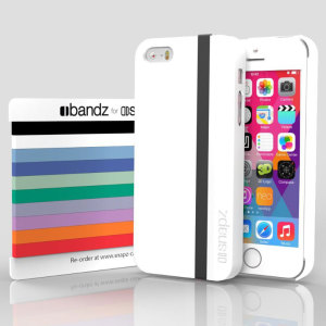 Snapz iPhone 5S/5 Case and Interchangeable Bandz - Polar White