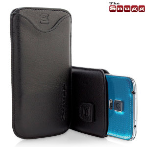 Snugg Samsung Galaxy S5 Faux Leather Pouch Case - Black