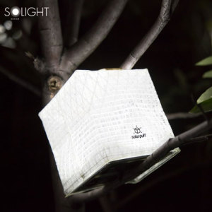 Solight Solar Puff Rechargeable Solar Powered Portable Lantern