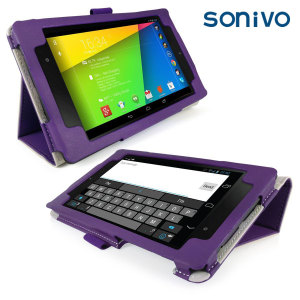 Sonivo Leather Style Case for Google Nexus 7 2013 - Purple