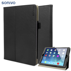 Sonivo Leather style Case for iPad Air - Black