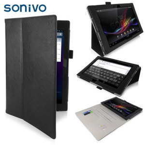Sonivo Leather Style Sony Tablet Xperia Z Case - Black