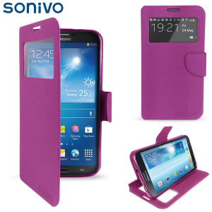 Sonivo Sneak Peek Flip Case for Samsung Galaxy Mega 6.3 - Purple