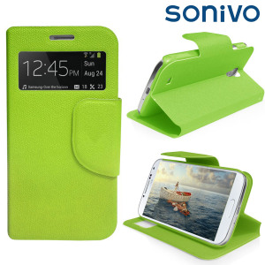 Sonivo Sneak Peek Flip Case for Samsung Galaxy S4 - Green