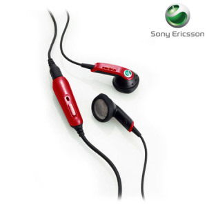 Sony Ericsson HPM-64 Stereo Portable Handsfree - Red