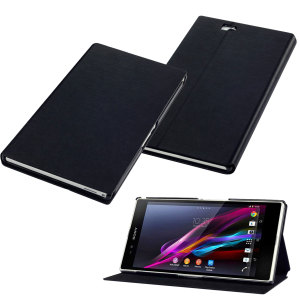 Sony Xperia Z Ultra Leather-Style Stand Case - Black