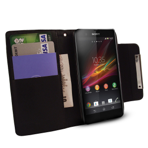Sony Xperia Z Wallet Case - Black