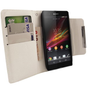 Sony Xperia Z Wallet Case - White