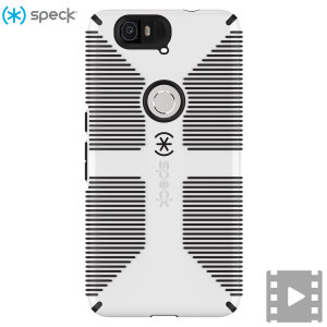 Speck CandyShell Grip Nexus 6P Case - White/Black
