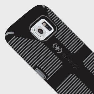 Speck CandyShell Grip Samsung Galaxy S6 Case - Black / Slate Grey