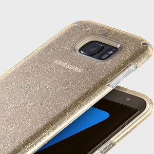 Speck CandyShell Samsung Galaxy S7 Edge Case - Clear / Gold Glitter