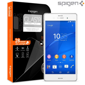 Spigen GLAS.tR SLIM Sony Xperia Z3 Tempered Glass Screen Protector
