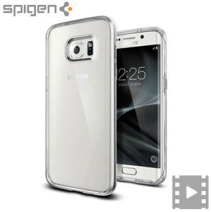 Spigen Neo Hybrid Crystal Samsung Galaxy S7 Edge Case - Satin Silver