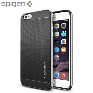 Spigen Neo Hybrid iPhone 6S Plus / 6 Plus Case - Satin Silver