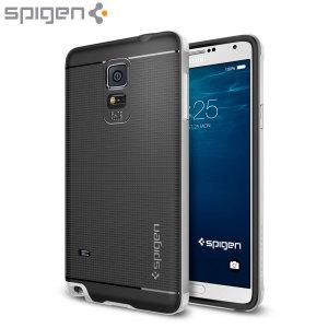 Spigen Neo Hybrid Samsung Galaxy Note 4 Case - Satin Silver