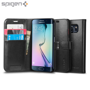 Spigen Samsung Galaxy S6 Edge Wallet S Case - Black