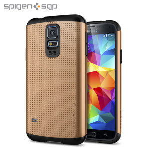 Spigen SGP Slim Armor Case for Samsung Galaxy S5 - Gold