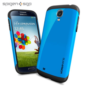Spigen SGP Slim Armour Case for Samsung Galaxy S4 - Blue