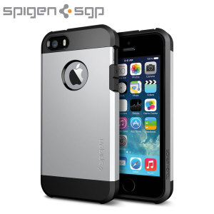 Spigen SGP Tough Armor Case for iPhone 5S / 5 - Satin Silver