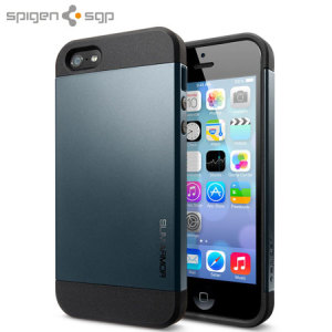 Spigen Slim Armor Case for iPhone 5S / 5 - Metal Slate