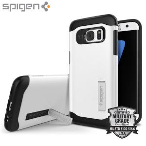Spigen Slim Armor Samsung Galaxy S7 Edge Case - Shimmery White