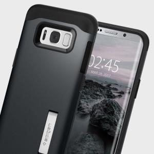 Spigen Slim Armor Samsung Galaxy S8 Plus Tough Case - Metal Slate