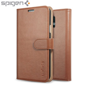 Spigen Slim Samsung Galaxy S5 Wallet Case - Brown