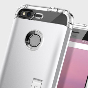 Spigen Tough Armor Google Pixel Case - Satin Silver
