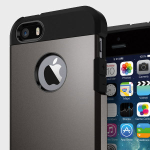 Spigen Tough Armor iPhone SE Case - Gunmetal
