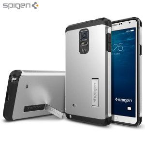 Spigen Tough Armor Samsung Galaxy Note 4 Case - Satin Silver