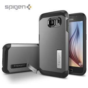 Spigen Tough Armor Samsung Galaxy S6 Case - Gunmetal