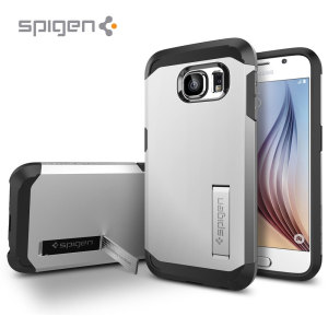 Spigen Tough Armor Samsung Galaxy S6 Case - Silver