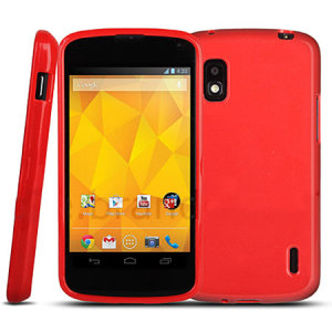 Stardust Silicone Case for Google Nexus 4 - Red