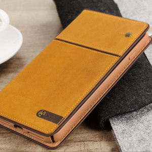 STIL Toscano Wine Genuine Leather iPhone 7 Plus Wallet Case - Camel