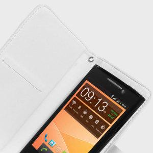 STK Universal 5 inch Smartphone Wallet Case - White