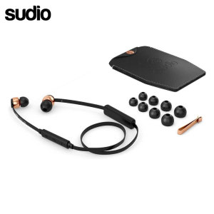 Sudio VASA BLA Bluetooth In Ear Headphones - Black / Rose Gold