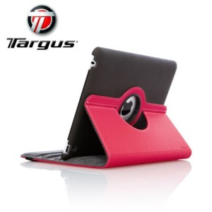 Targus Rotating Leather Style Case for iPad 4 / 3 - Pink / Black