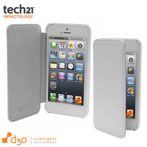 Tech21 Impact Snap Case with Cover for iPhone 5S / 5 - White