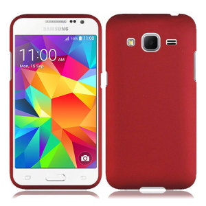 ToughGuard Samsung Galaxy Core Prime Rubberised Case - Red