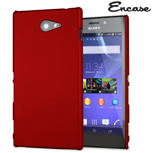 ToughGuard Sony Xperia M2 Rubberised Case - Red