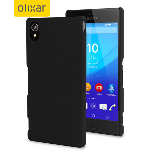 ToughGuard Sony Xperia M4 Aqua Hybrid Rubberised Case - Black