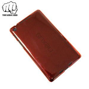 ToughGuard Translucent Shell Case for Google Nexus 7 2013 - Red