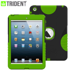 Trident Aegis Case for iPad Mini 3 / 2 / 1 - Black/Green